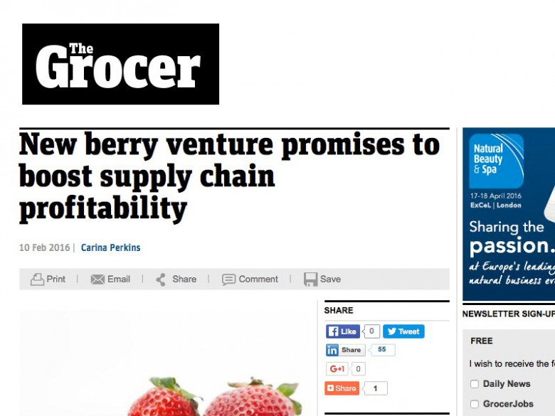 New berry venture promises to boost supply chain profitability