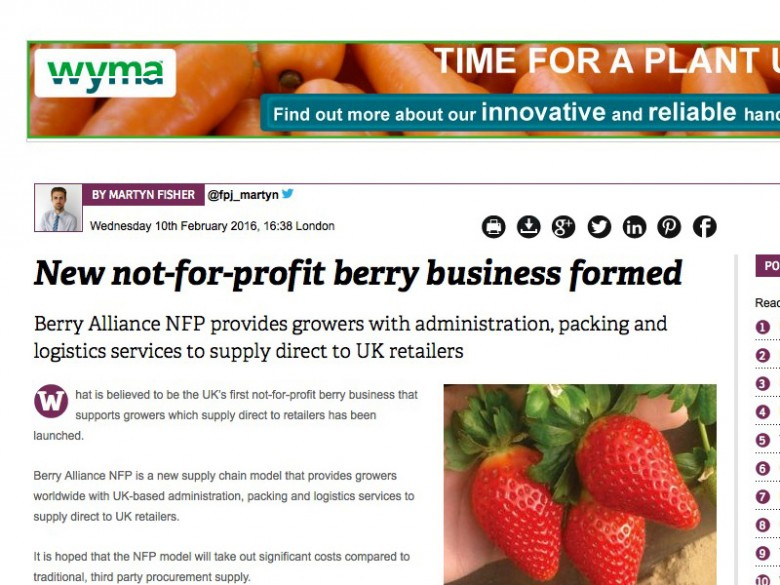 New not-for-profit berry business formed